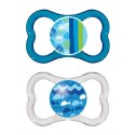 MAM Air Pacifier +16 mths TWIN PACK ( BLUE )