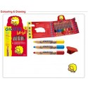 GIOTTO Be-bè Super Large Pencil 6 assorted