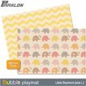 BUBBLE Playmat - LITTLE ELEPHANT (SIZE L40)